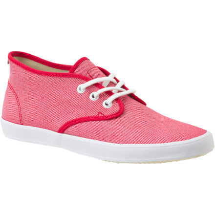 Skateboard The Gravis Women's Quarters Shoe brings laid-back, skate-influenced style to new heights with this (barely) mid-top design. Daring prints, bold solids, and contrasting laces complete this fun-loving sneaker. - $32.97
