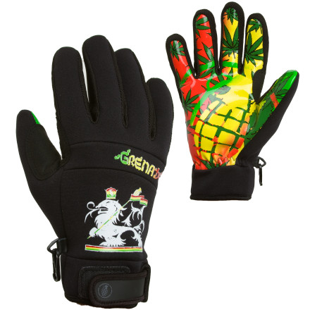 If Robert were alive and decided to punish his warm-climate soul on a board, he'd wear the Grenade Bob Gnarly Glove most likely. Grab a spliff and/or your board with ease thanks to the tack palm and then do your best to high-five the legendary artist when you get super high in a backside five. - $34.97