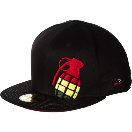Pull the Grenade Irie Halfer New Era 5950 Hat down low over your eyes to hide just how much Jah has blessed you today. - $19.47