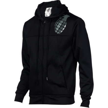 When the days start getting colder, step up your protection and step into the burly Grenade Men's Tech Full-Zip Hoody. Sporting a removable hood, thumbhole cuffs, and veritably oozing badass attitude, the Tech has you covered. - $47.97