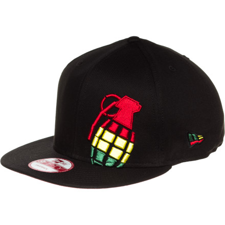 Pull the Grenade Irie Halfer New Era 5950 Hat down low over your eyes to hide just how much Jah has blessed you today. - $16.77