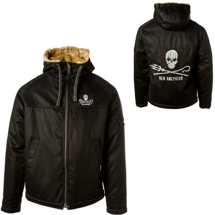 We might laugh at baby seal jokes all the time, but in reality, marine animal slaughter is one of many atrocities happening daily on our planet. A portion of the profits from the Hemp Hoodlamb Sea Shepherd Classic Hoodlamp Jacket go to the Sea Shepherd Conservation Society, which aims to stop all marine animal cruelty. - $317.95