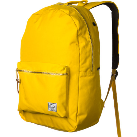 Camp and Hike The Herschel Supply Settlement Backpack throws out a slick, vintage vibe that focuses on cool simplicity and function. Drop your books in the bag, drop the bag on your back, and let this stylish pack help you through the day. - $54.95