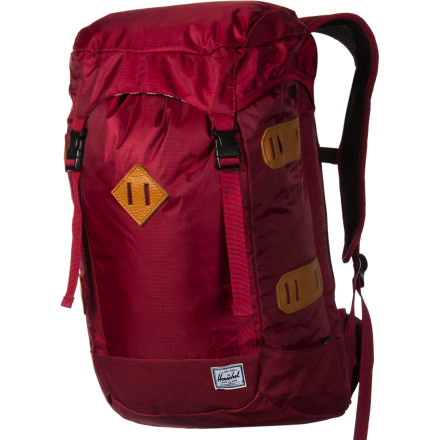 Camp and Hike The Herschel Supply Crest Backpack bridges the gap between a casual bag and a technical pack. This bag will carry your books and your laptop around campus and then haul your gear on an overnight excursion into the backcountry. - $90.97