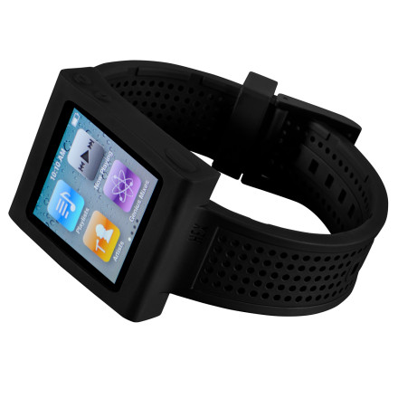Entertainment Use the Hex Sport Watch Band to stylishly and securely hold an iPod Nano 6 Gen and you won't loose it to heating vents, sewage grates, or baggy pockets. - $7.49