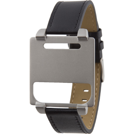 Entertainment Thanks to its convenient clip-in, clip-out design, the Hex Vision Classic Leather Watch Band instantly transforms your 6th-generation iPod Nano (sold separately) into an elegant, timeless-looking timepiece. - $24.98