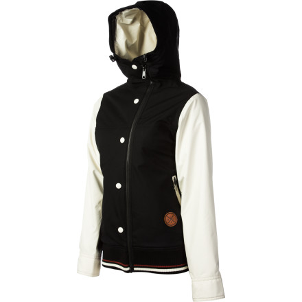 Snowboard Classic letterman style and an asymmetrical front closure give the Holden Women's Rydell Jacket a unique look that works from the peaks to the streets, and plenty of ride-ready tech means you'll feel great even when Old Man Winter decides to throw some nasty weather your way. - $164.97
