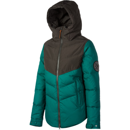 The terrifically toasty Holden Estelle Down Jacket features high-loft down fill to keep you cozy in even the coldest climates. The recycled polyester lining and solvent-free construction are part of Holden's commitment to making eco-conscious products, while the body features angled baffles to ensure even loft and offer a flattering, feminine look. - $208.97