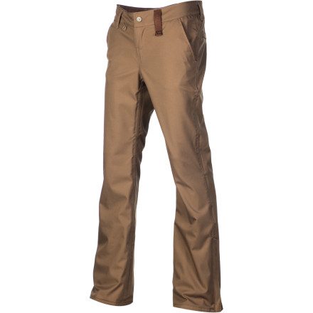 Snowboard The Holden Mountain Chino Skinny Pant offers a modern, mountain-ready take on timeless workwear styling. A waterproof 10K laminate prevents wind and snow from rustling your jimmies, and the skinny fit sits close but won't compromise movement thanks to stretch twill fabric and an ergonomic design. - $135.96