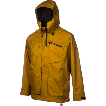 Snowboard Bare your teeth as you enter the backcountry in the Homeschool With Teeth Men's Shell Jacket. It has the breathability of a softshell with the protection of a shell so you stay cool on long hikes, but it's ready to handle whatever the weather brings when an unexpected storm rolls in. - $162.48