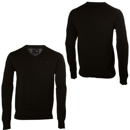 Surf Put yourself on the menu with the Hurley One & Only V-Neck Sweater. Wearing your favorite tee to the bar at night will keep you from having to engage in awkward conversations with aspiring models and actresses, but isnt that why you decided to pay eight bucks for a beer - $43.96