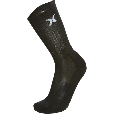 Skateboard Stuff your sorries in the Hurley One and Only Crew Sock and hit the park for another all day sesh. - $5.17