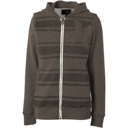 Surf The Hurley Vacation Stripe Full-Zip Hoody's French-terry fabric is so soft, your kid won't even complain about going back to school. OK, that's a lie. But it's still really comfortable. - $26.97