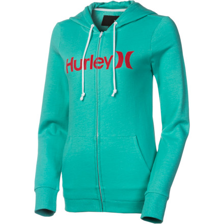 Surf Way back in the day, no girl's wardrobe was complete without a sweater set that she could wear just about anywhere. That essential has been replaced by the ubiquitous hoodie, and it doesn't get much better than the Hurley Women's One and Only Slim Full-Zip Hoodie. Sporting a flattering slim fit and a feminine V-neck, this classic must-have keeps you cozy and looks just right no matter what you pair it with. - $31.47