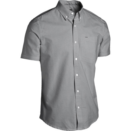 Surf The Hurley Ace Oxford Short-Sleeve Shirt is just the thing for the guy who can be formal but would still like all the nearby ladies to know that he's ready to party if the opportunity presents itself. - $41.62