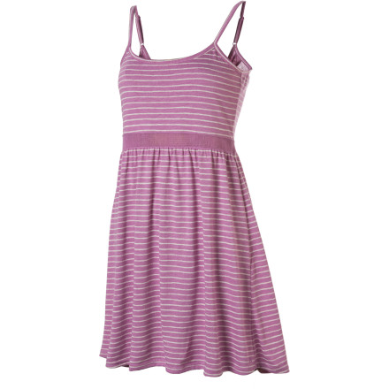 Entertainment With a style that's somewhere between care-free and fashion-conscious, the Hurley Featherweight Mesh Strappy Dress is capable of snapping necks at an uptown function or while strolling around town. Features include adjustable straps, a scooped neckline, and a fun stripe print. - $20.97