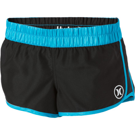 Surf Pull on the Hurley Women's Supersuede Block Party Beachrider Board Short, sit poolside, and take in the drunken shenanigan's of Vegas. Even if you're not legal to drink, there's always some good people watching on the strip. - $31.95