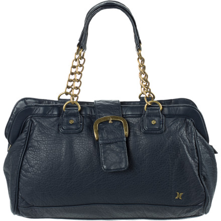 Entertainment The Hurley Arlington Satchel blends an unstructured, too-cool-to-care design with an upscale attitude to create a versatile look that works with a dress and heels or jeans and a T-shirt. - $33.57