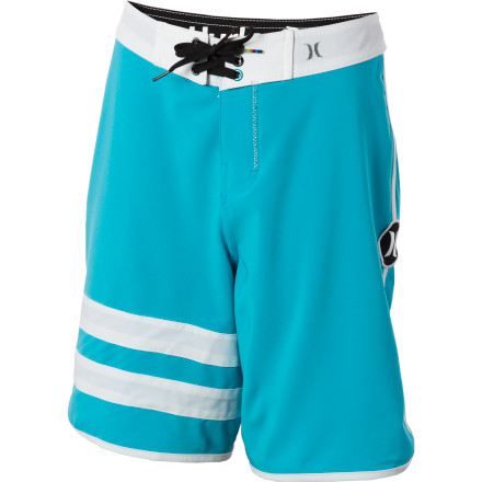 Surf High-tech fabric meets a classic look in the surf-worthy Hurley Boys' Phantom 60 Block Party Board Short. - $24.73