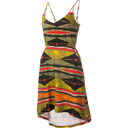 Entertainment The Hurley Queenstown Dress is fun, sexy, and flattering. Wear this dress to the beach and let the light, flowing fabric show off your legs as it catches the breeze. Wear it to that bar in Cancun that you love where they just pour booze down your throat to save time. Put a jacket over it and wear it to your nephew's birthday party. The possibilities are almost endless. - $25.64