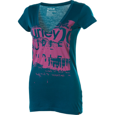 Surf Hurley Playground Perfect V T-Shirt - Short-Sleeve - Women's - $13.17