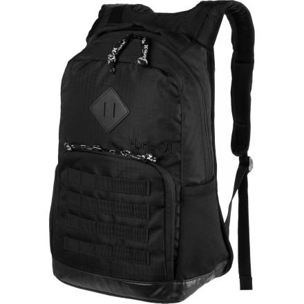 Camp and Hike The Hurley Icon Backpack features a large main compartment to carry books, laptop, lunch, extra clothes with enough space left over to stow a small marsupial. A very small one. - $27.97