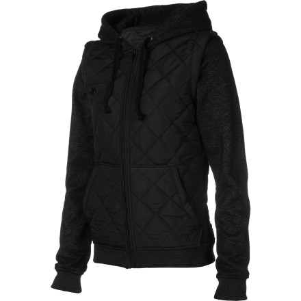 Surf The Hurley Women's Bristol Jacket dishes up an easy going vibe that is great for chill hangouts with friends or beer grabs at your favorite dive. - $45.14