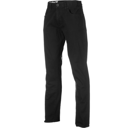 Surf Once again, the earth tilts its axis away from the sun, requiring you to change your clothing and board choice. But that's a good thing, because you can slip on the cotton, straight-legged Hurley 84 Slim Twill Pant for the time you spend off the mountain or out of the cold surf. - $45.14