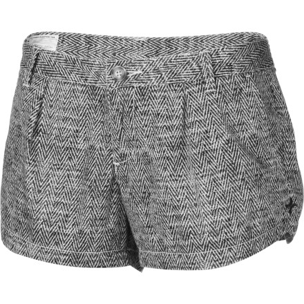 Surf Skip the skirt look and wear the Hurley Women's Lowrider Trouser Short with your chic top and stellar wedges. - $20.98