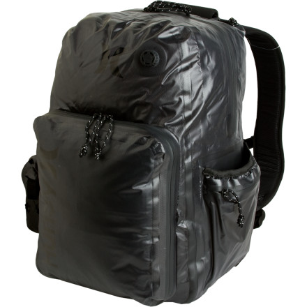 Camp and Hike Hurley made the Dry Pack Water Resistant Backpack from PVC-free coated durable nylon and designed it with epic surf trips in mind. Hurley concealed a water-tight roll-top closure under the top zipper and gave this bag an air intake valve so you can blow air into it to turn the pack into a float device. - $127.96