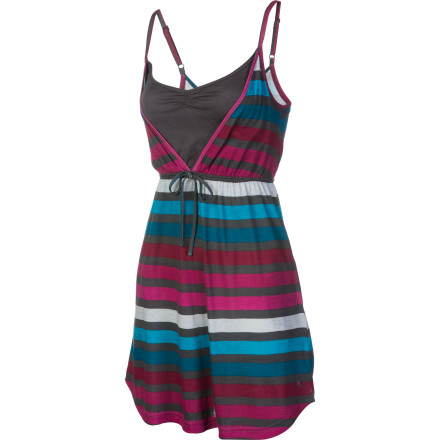 Entertainment Wear the Hurley Kingston Dress with a pair of comfy shoes and a great pair of sunglasses then head downtown for a drink and some music at an outdoor concert. After the show, this dress will have you ready for a night out or a night in depending on how crazy you got at the concert. - $17.48