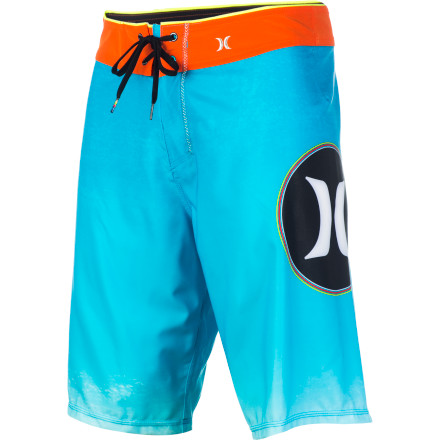 Surf The Hurley Phantom Con Boardshort features True Performance Fit for serious riding and a left leg logo that lets folks know when you're coming (if you're regular) or going (if you're goofy). - $38.97