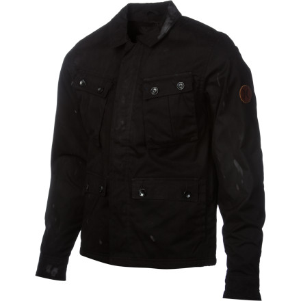 Entertainment The Hurley Specialist Jacket takes military toughness and mashes it up with a cozy, super-soft inside that will keep you feeling good when the temperature dips. Plus, this jacket brings enough style to see you through dress-to-impress dates and swanky social gatherings. - $76.70