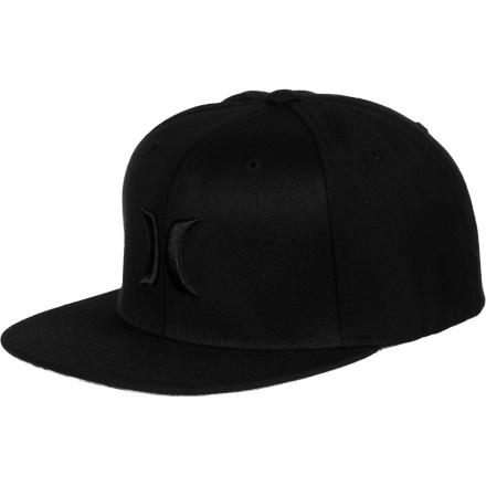 Surf Hurley Solid Krush Flexfit Snapback Hat - $17.67