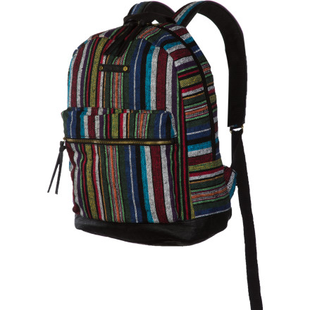 Camp and Hike Head to school in style with the Hurley Market Women's Backpack. The main compartment has plenty of room for all your supplies, and the patterned cotton fabric is sure to turn heads when you're making your way down the hall. - $45.95