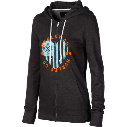 Surf Hurley Heartbreaker Full-Zip Hoodie - Women's - $22.48