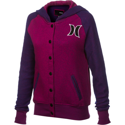 Surf Hurley JV Fleece Full-Zip Hoodie - Women's - $41.67