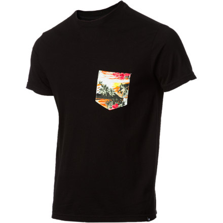 Surf Hurley Flammo Pocket Crew - Short-Sleeve - Men's - $20.62