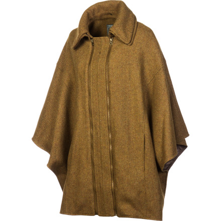 The I Spiewak & Sons Women's Beaumont Cape wraps you in both warmth and an earthy elegance that will keep you looking great whether you're popping into galleries or going to winter dinner parties. Zip up in this chic winter cape when you're not afraid to show off in true style. - $98.53