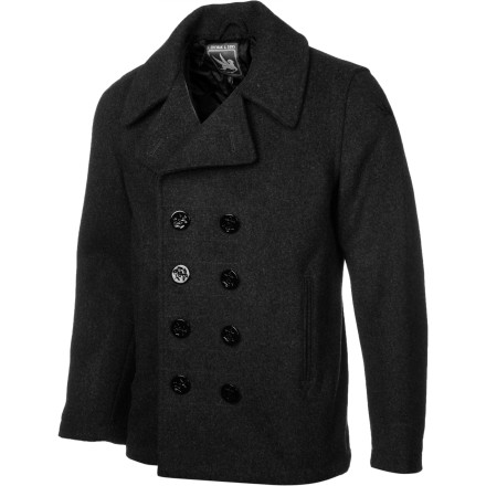 Entertainment Whether you're a salty sea dog, a greenhorn dock worker, or a yellow-bellied landlubber, the I. Spiewak & Sons Dugan Pea Coat takes the edge off winter's icy blast so you can focus on spotting ice bergs, off-loading cargo, or whatever it is you do. - $243.95