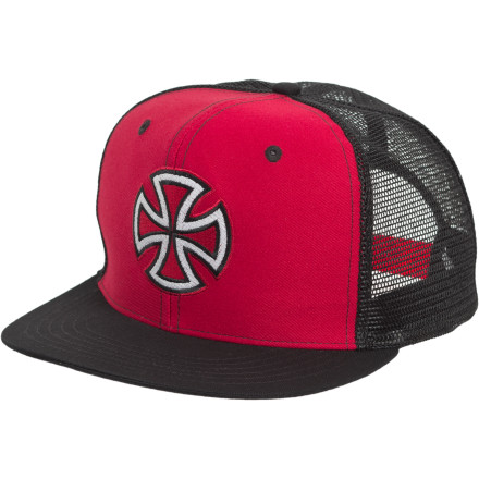 Give props to the most-respected truck brand in all the land with the Independent Painted Cross Trucker Hat. - $10.93