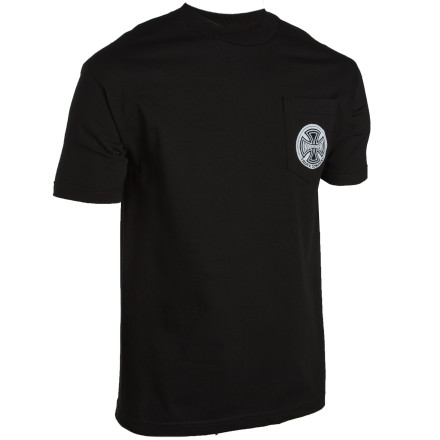 Hunting The Independent Prey Pocket T-Shirt makes you invisible to all alien infrared human-hunting technology. However, they will still be able to see your legs, arms, and head. - $13.17