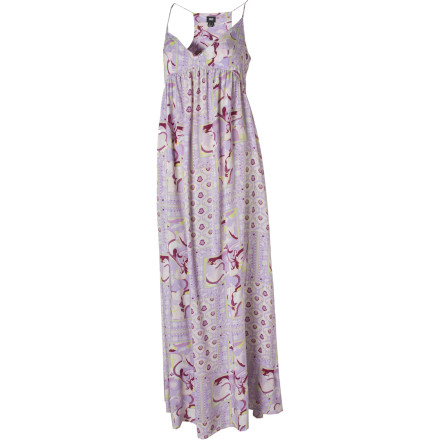 Entertainment With a style that's ideal for frollicking through fields in the countryside but still appropriate for city life, the Insight Oriental Patchwork Maxi Dress balances chic with playful. - $28.49