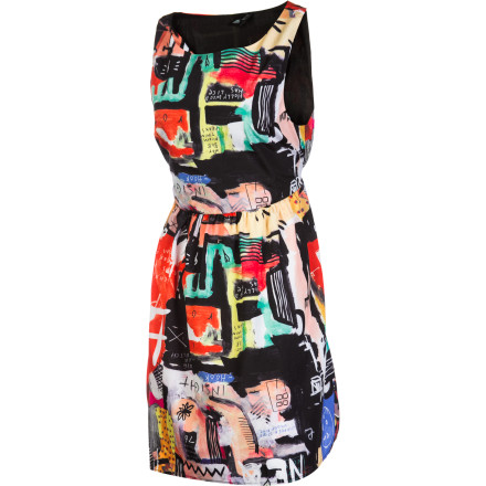 Entertainment The Insight Neo Noise Dress brings loud style to any function in need of a little extra pizzazz. A contemporary all-over collage print paired with the sleeveless silhouette make the Neo Noise anything but quiet. - $32.47