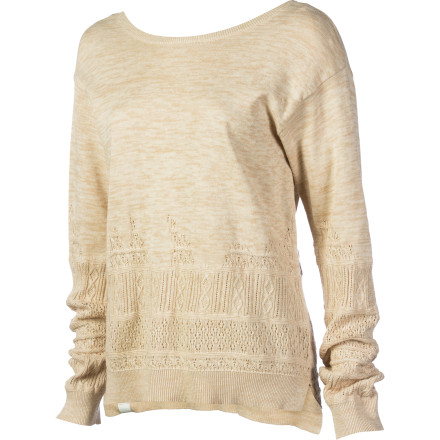 Surf The Insight Women's Quincy Knit Sweater has a loose, free-flowing feel that might make you want to blast some music and audition for ballet school with your break dancing routine. This sweater can also help you create a more casual look when you rock it with jeans or a skirt instead of a leotard and tights. - $43.97