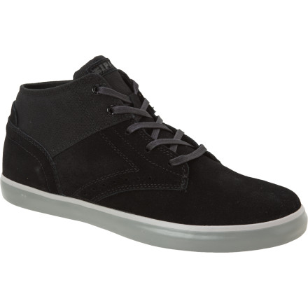 Skateboard The Ipath West Wing Mid Skate Shoe carries the fit and feel of a skate-specific mid with some dressed-up extras like wing-tip detail, a slimmed-down profile, and waxed canvas and velvety suede to round out the look. - $39.98