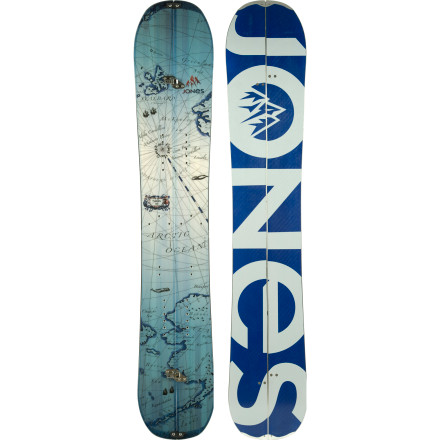 Snowboard Get above and beyond with the Jones Solution Splitboard. This is the stick backcountry legend Jeremy Jones uses to access previously un-ridden zones and float on top of the deepest powder known to man. If the progressive, super-floaty directional-rocker shape weren't enough to sway you, the Solution is also constructed using top-shelf, eco-friendly materials like a FSC-certified wood core, recycled P-Tex base, and bio-film topsheetso it's good for the environment AND ripping untracked lines. - $719.06