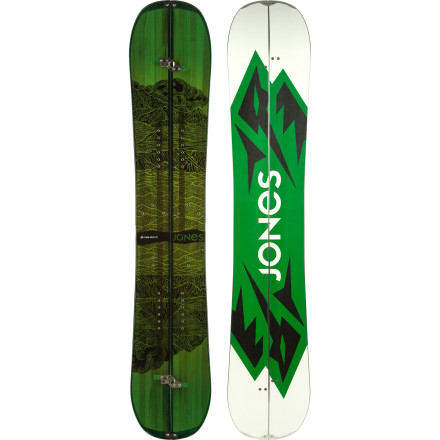 Snowboard Gone are the days of all splitboards being grumpy, directional tapered tanksthe Jones Mountain Twin Splitboard was designed for riders who want to access the most remote backcountry zones, but who still need the huckable shape of a modern, poppy freestyle twin to get rad on the ride back down. Air into pillows, half-cab off cliffs, and huck off huge windlips knowing the Mountain Twin's CamRock profile offers predictable, floaty takeoffs and landings both regular and switch. - $639.16