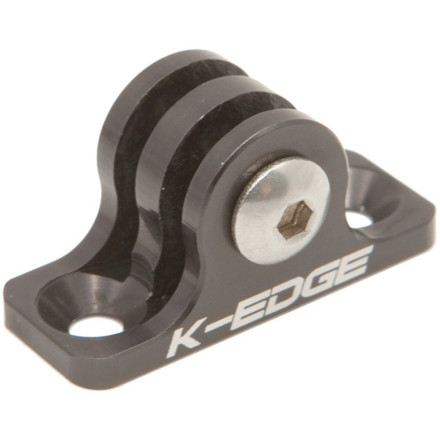 Surf The K-Edge Go-Big Universal Mount is a simple and supremely durable mount for your GoPro camera in high-speed applications. Designed to mount flush with flat surfaces, the Universal Mount minimizes camera shake, and maximizes picture stability for your GoPro, even at velocities most of us wouldn't otherwise dare to surf, skate, drive, or ride. Bear in mind that while this is a screw-based mount, it's especially useful if using an adhesive to secure your GoPro camera to a flat and potentially jarring surface doesn't inspire the greatest confidence. K-Edge makes all their mounts right here in the United States  in Boise, Idaho, in fact. The Universal Mount is CNC machined from 6061 T6 aluminum, and only weighs 11 grams. It mounts to most flat surfaces by countersunk screw, bolt, or rivet (hardware not included) with one-inch hole spacing. Rather than using your GoPro's included mount knobs for securing the camera to the mount itself, the Universal Mount utilizes a M5 bolt to keep things secure. K-Edge backs their mounts with a lifetime warranty. Choose between Black, Gunmetal, or anodized Red. - $24.99