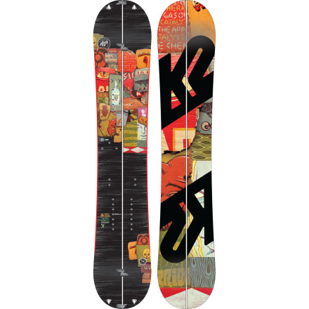 Snowboard If your nightmares are filled with images of circling a full parking lot like a vulture, waiting forty minutes in a nebulous liftline, dodging skiers on chaotic cat tracks, or having tourist get to the powder before you, than you need to find a new vantage point with the K2 Panoramic Splitboard. The Panoramic features an array of technology to get you charging pristine powder; just snap it together and go. - $419.97